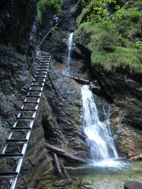 Vodopády v roklině Suchá Belá